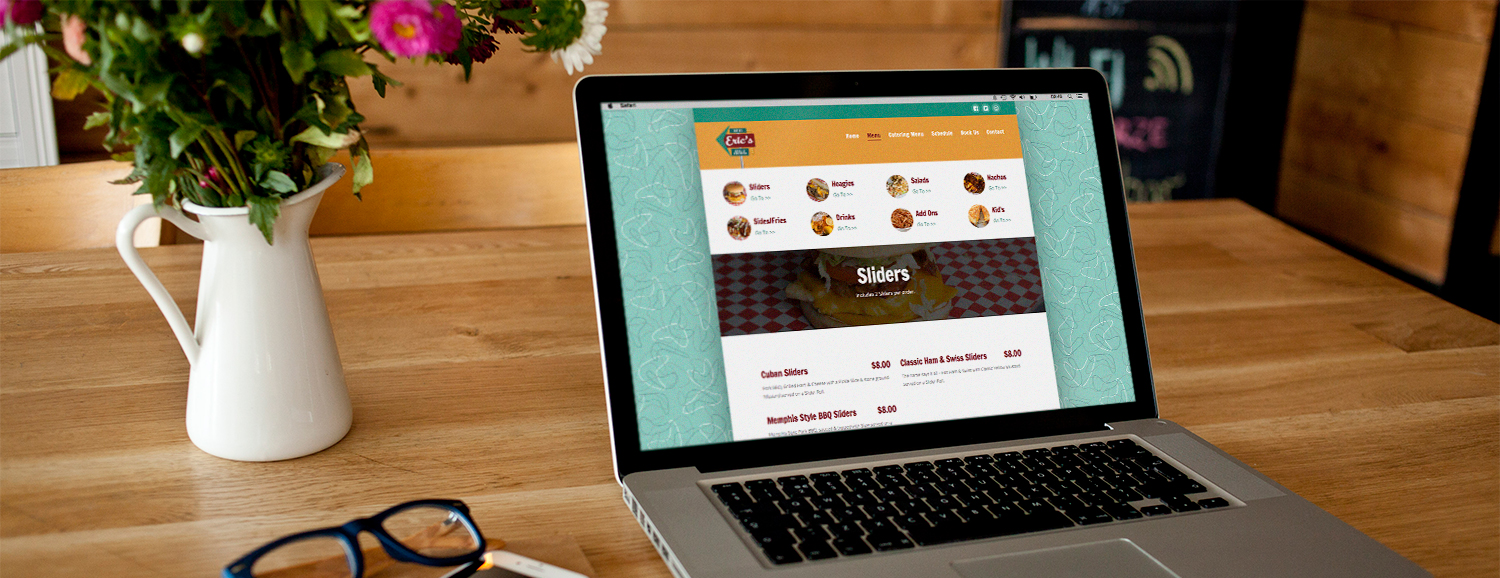 Erics Website Menu Case Study