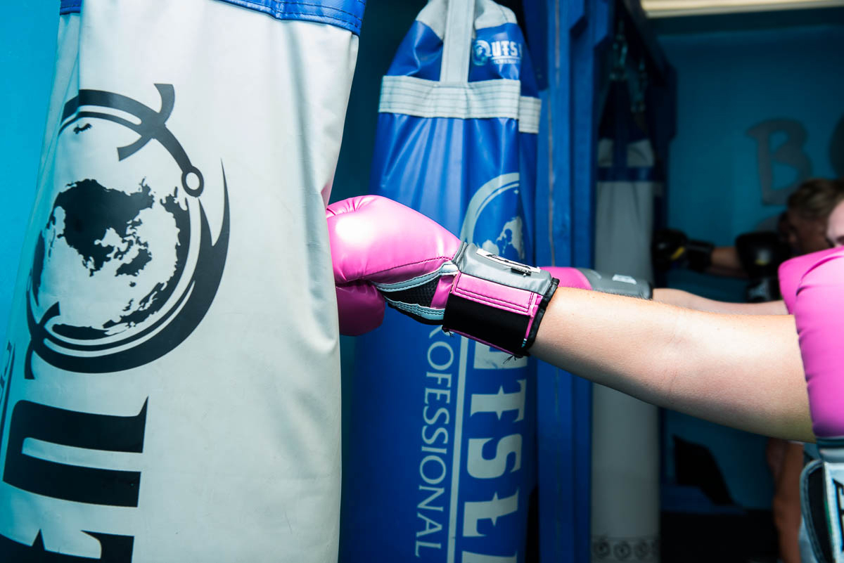 Fusion HIIT Kick Class Punching Bags Photo