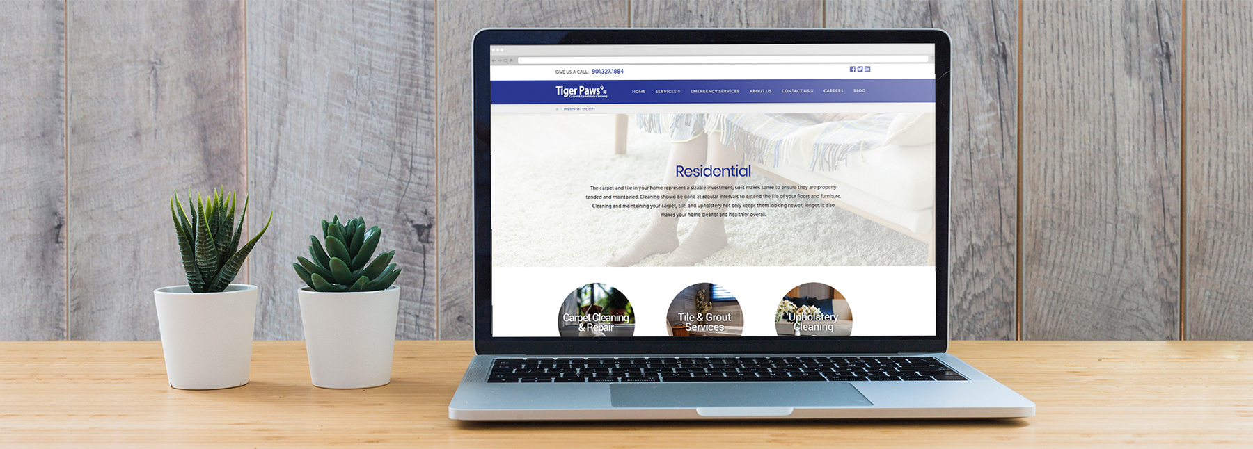 Tigerpaws Website Residential Services