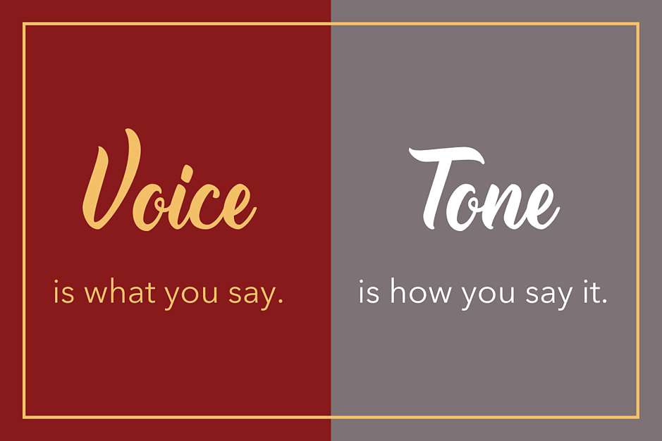 voice and tone definitions