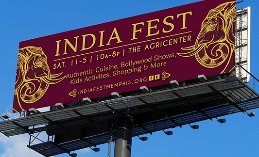 photo of india fest billboard digital marketing